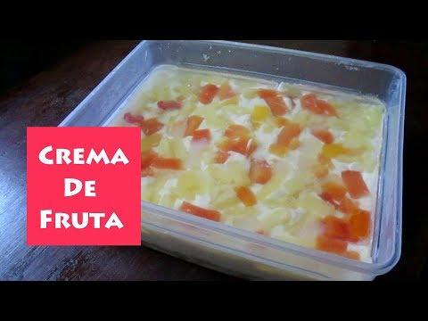 Crema De Fruta Graham | No Bake Crema De Fruta | FruitCocktail Cake
