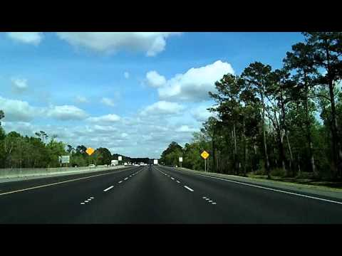 Interstate 10: TX/Louisiana Line to Lafayette Time Lapse Dashcam