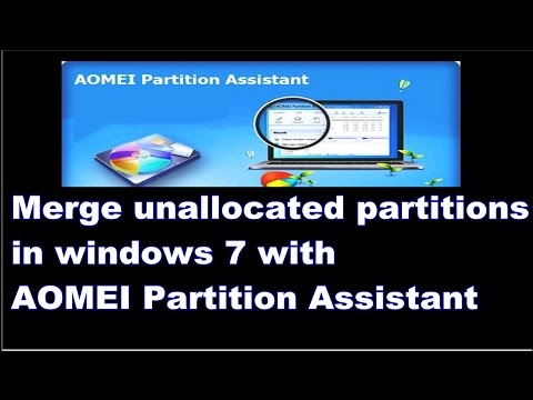 How to Recover unallocated partitions in windows 7  [ AOMEI Partition Assistant ]