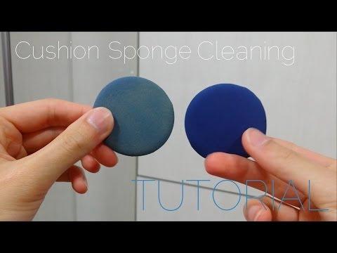HOW TO: Clean Your BB Cushion Sponge! BB 쿠션 스펀지 클리닝 - mrpanda101