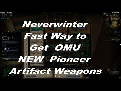Neverwinter Fast way to get Omuan Treasures for NEW mod 13 Artifact Weapons