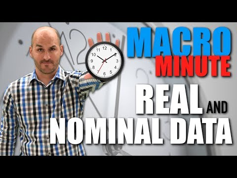 Macro Minute -- Real and Nominal Data