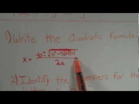 How to use the Quadratic Formula to factor a trinomial