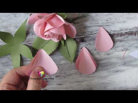 [FREE template]: How to make paper rose