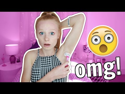 FIRST TIME SHAVING MY ARMPITS STORY TIME! 😱🚿 *omg*