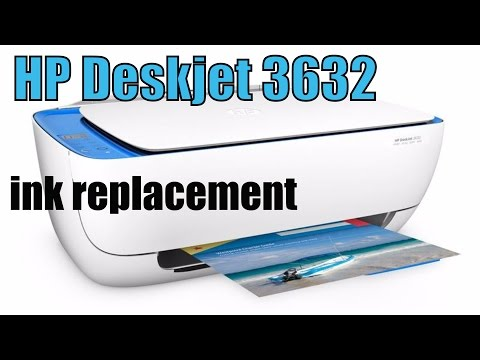 How to replace the ink, HP Printer Desk Jet 3632 ink replacement DIY