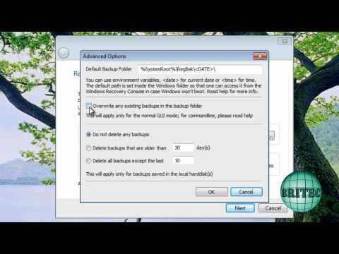 RegBak, Registry Backup And Restore Tool by Britec