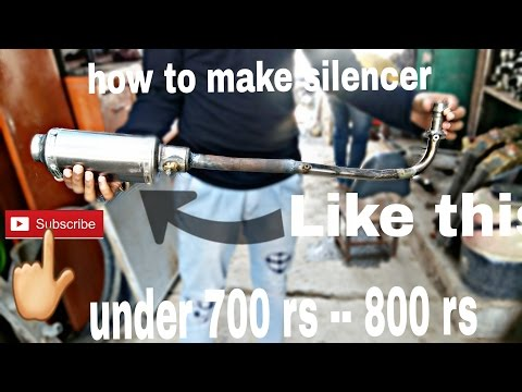 how to make silencer for any 100 cc to 150 cc bike under 700 rs - 800 rs must watch useful video