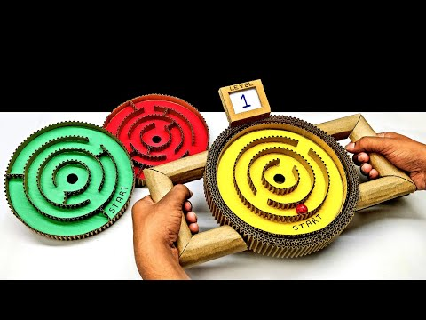 DIY Marble Labyrinth Game With Switching Levels