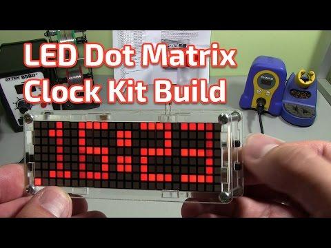Banggood Dot Matrix Clock Kit Build