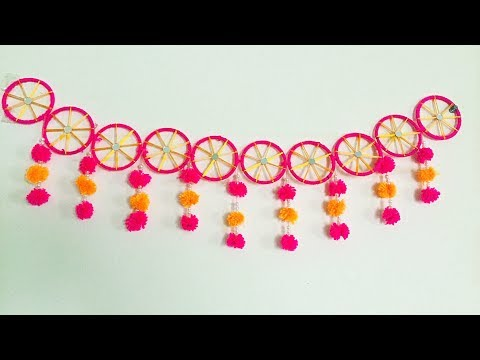 How to make toran from Old glass bangles/Puja room decoration/Diwali decoration