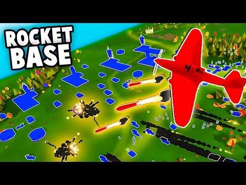 Crazy RUSSIAN ROCKET Base vs German Jets! (Total Tank Simulator)