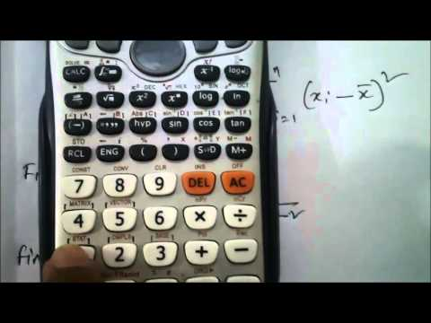 How to Find mean , Standard deviation and Variance using Casio fx 991 Es plus Calculator