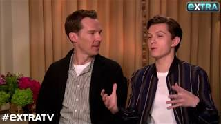 Benedict Cumberbatch Tries to Keep Tom Holland from Giving