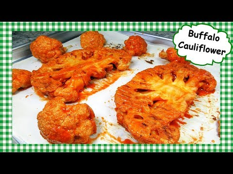 Buffalo Cauliflower Recipe ~ Buffalo Cauliflower Steak Sandwich & Wings