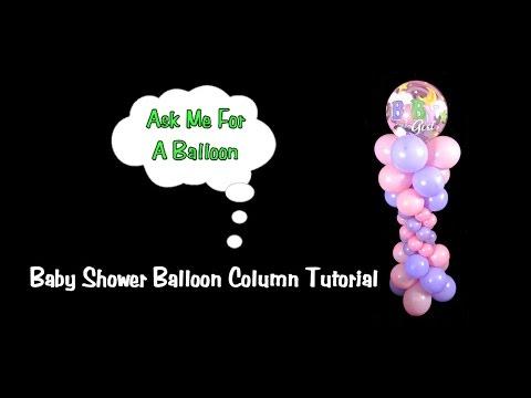 Balloon Column without Stand - Balloon Decoration Tutorial