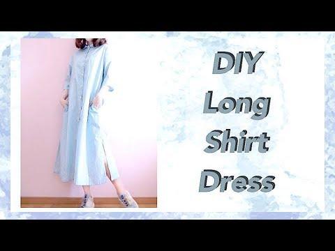 DIY Long Shirt Dress / 服作り / 옷만들기 / 手作教學 / Costura / Sewing Tutorialㅣmadebyaya