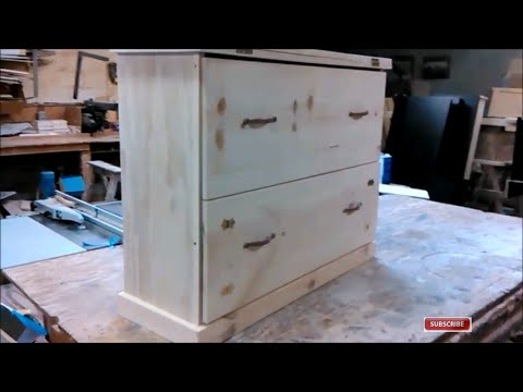 building a small pine desk with a fold out bench seat and drawer