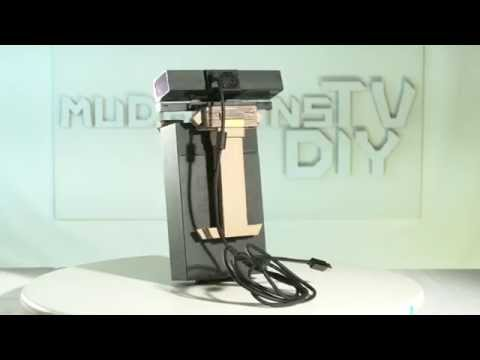 DIY Kinect Sensor TV Mount for Xbox One made from Cardboard