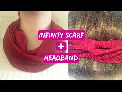 How to Make an Infinity Scarf and Headband!