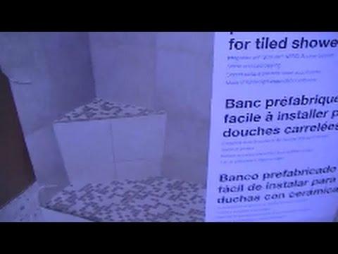 Insalling Schluter Kerdi Corner Shower Bench