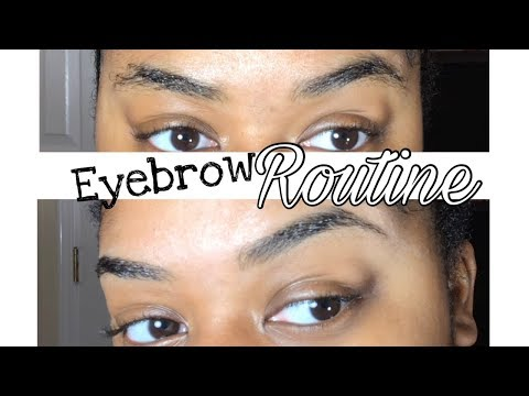 How To Shape & Trim Curly Eyebrows + Tutorial | Eyebrow Routine 2017