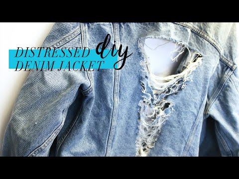 DIY Distressed Denim Jacket // Tumblr Inspired // BePrismatic