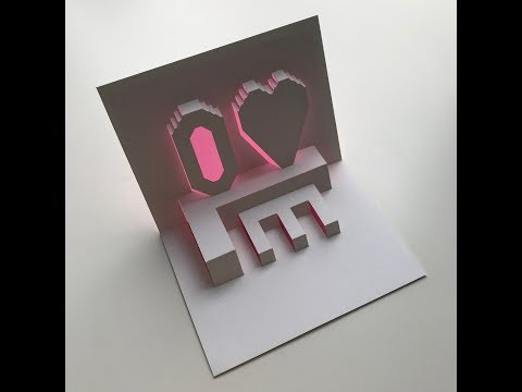 Love - Text Pop Up Card Tutorial - Origamic Architecture