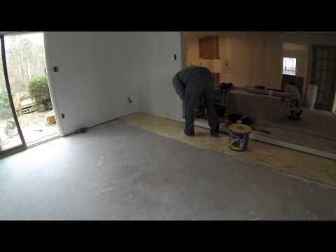 Unfinished Installation by Ogle's Hardwood Flooring