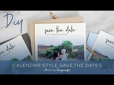 DIY Calendar Photo Save The Dates