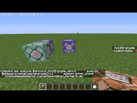 Minecraft - Snowball hit Detector (Tutorial)