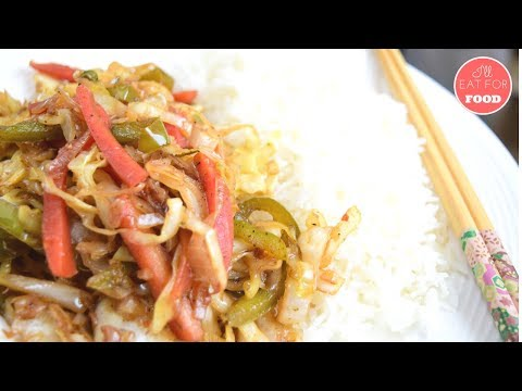 Stir-Fried Cabbage with Rice │Episode 105│ I'll Eat For Food