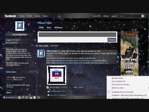 How to change your facebook theme