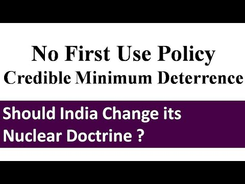 Critical Analysis Of Nuclear Doctrine Of India | NFU Policy | CMD