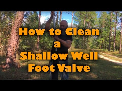 Shallow Well Foot Valve Cleaning
