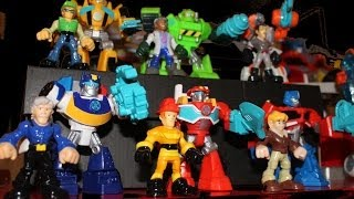 Transformers Rescue Bots Toy Figures - Full Set - Unbox and Review - Heatwave, Chase, BumbleBee
