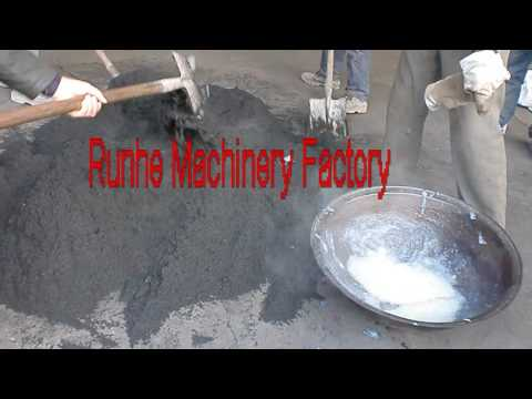 Rice husk make charcoal briquette