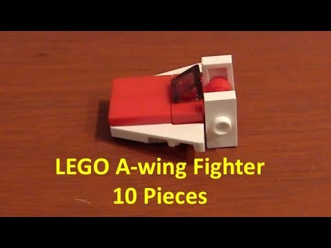 How To Build A LEGO Star Wars Mini A-Wing Fighter With 10 Pieces