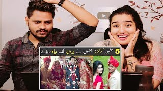 Indian Reaction On 5 Cricketers Who Married Foreigner Girls ¦ Part 1 ¦ Urdu ¦ Hindi