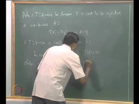 Mod-04 Lec-15 The Null Space and the Range Space of a Linear Transformation