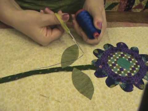 Blanket Stitching with Aurifil 12wt Thread