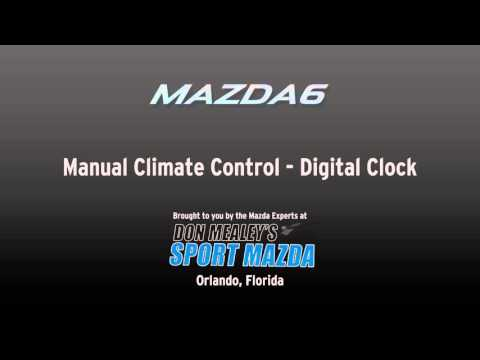How to change the time on the digital clock in manual climate control equipped 2015 Mazda6s