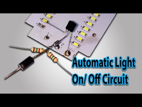 How To Make Automatic Light On/ Off Circuit Without LDR