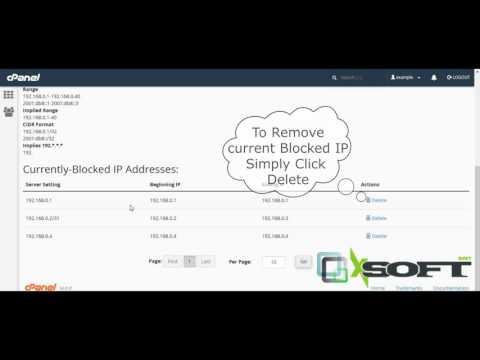 Block IP address or domain using cPanel IP Blocker Tool