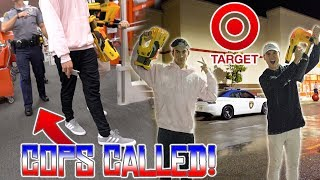 INSANE NERF WAR IN TARGET!! **WE GOT KICKED OUT**