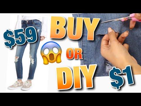 DIY DISTRESSED JEANS & DENIM | BUY IT OR DIY IT!