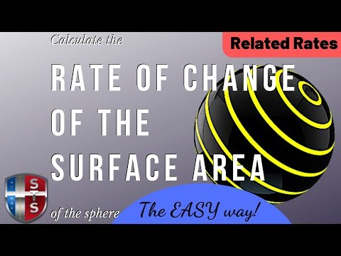 Calculus - Related Rates - Sphere Surface Area - Analytics