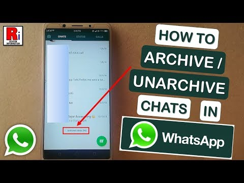HOW TO ARCHIVE / UNARCHIVE CHATS IN WHATSAPP