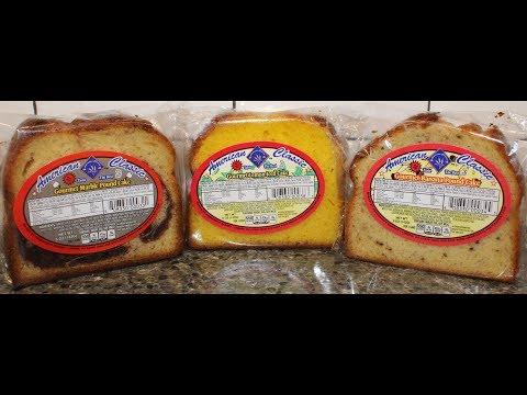 American Classic Lemon Iced Cake, Marble Pound Cake & Banana Pound Cake Review