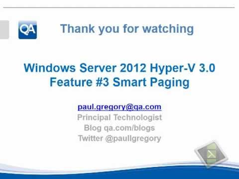 Windows Server 2012 Hyper-V Dynamic Memory and Smart Paging